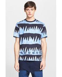 Junya Watanabe Drip Stripe T-Shirt blue - Lyst