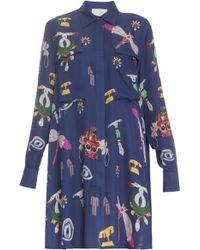 Mary Katrantzou Oriane Symbol Shirt Dress - Lyst