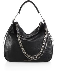 Jimmy Choo Boho Metallic Leather Hobo Bag - Lyst