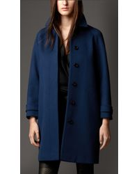 Burberry Wool Cashmere Oversize Coat - Lyst