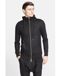 Helmut Lang Coated Cotton Terry Hoodie - Lyst