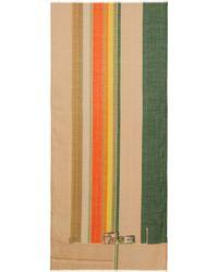 Akris - Striped Flower-farm Printed Scarf - Lyst