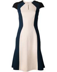 Carolina Herrera Colorblocked Dress - Lyst
