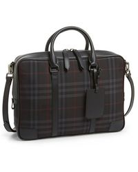 Burberry 'Horseferry Check - Newburg' Crossbody Briefcase - Lyst