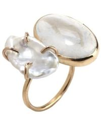 Melissa Joy Manning - Gold, Pearl And Opal Open Ring - Lyst