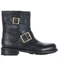 Jimmy Choo - Youth Buckled Biker Boot - Lyst