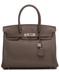 Hermès - Etain Togo Birkin - Lyst
