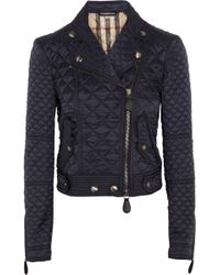 Burberry Brit - Quilted Shell Biker Jacket - Lyst