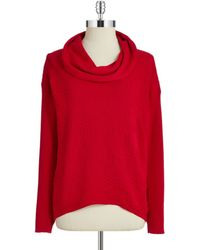 Calvin Klein Textured Cowlneck Sweater - Lyst