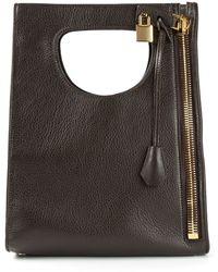 Tom Ford Cut Out Handle Shoulder Bag - Lyst