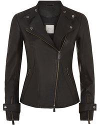 Pinko Leather Jacket - Lyst
