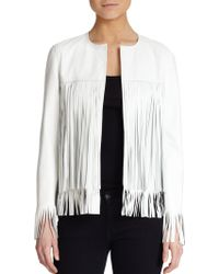 ThePerfext April Fringe-Trimmed Leather Jacket - Lyst