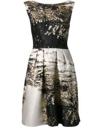 Alberta Ferretti Printed Origami Dress - Lyst