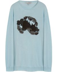 Mulberry | Embroidered Crew Neck Jumper | Lyst