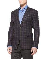 Paul Smith Plaid Quilted Jacket - Lyst