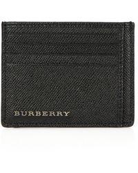Burberry Bernie Leather Card Case black - Lyst