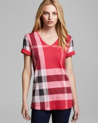 Burberry Brit Reversible Check Tee - Lyst