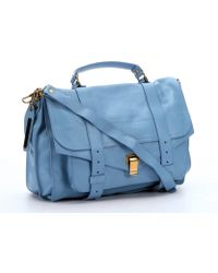Proenza Schouler Light Blue Leather Small 'Ps 1' Convertible Shoulder Bag - Lyst