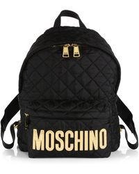 Moschino Quilted Nylon Backpack - Lyst