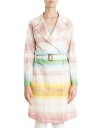 Missoni Belted Trench Coat multicolor - Lyst