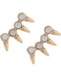 Lucky Brand - Goldtone Spike Crawler Earrings - Lyst