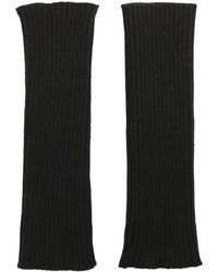 Ami Alexandre Mattiussi Wool Ribbed Knit Fingerless Gloves - Lyst