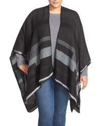 Two By Vince Camuto - Stripe Blanket Cape - Lyst