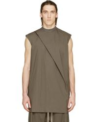 Rick Owens Grey Hiked Tunic - Lyst