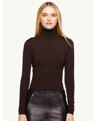 Ralph Lauren Black Label Cashmere Blend Turtleneck - Lyst