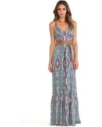 Twelfth Street by Cynthia Vincent Leather Wrap Maxi - Lyst