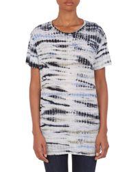 Proenza Schouler Tie-Dye Slub-Knit T-Shirt - Lyst