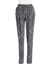 C&C California Wide-Leg Bandana Pants - Lyst