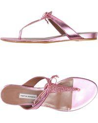 Tabitha Simmons Thong Sandal - Lyst
