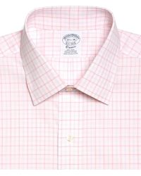 Brooks Brothers Noniron Slim Fit Overcheck Gingham Dress Shirt - Lyst