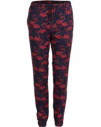 Marc Jacobs Flamingo Print Sweatpants blue - Lyst