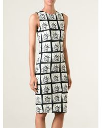 Fausto Puglisi Stretch Statue Of Liberty Dress - Lyst
