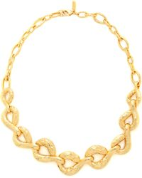 Alexis Bittar Rocky Link Necklace - Gold - Lyst