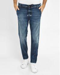 DIESEL | Faded-blue Duff Elasticated Ankle Drawstring Waist Slim-fit Joggjeans | Lyst