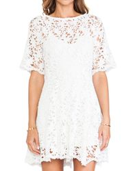 Nightcap Daisy Crochet Fit and Flare Dress - Lyst