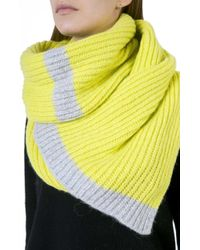 7 For All Mankind - Block Scarf Lime Grey - Lyst