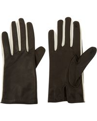 Kenzo Black and White Leather Gloves - Lyst