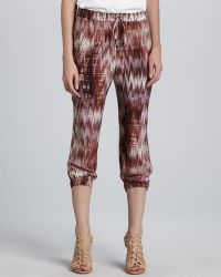 Textile Elizabeth and James Ruben Cropped Print Pants - Lyst