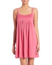 Hanro | Juliet Cotton Pleated Babydoll Gown | Lyst