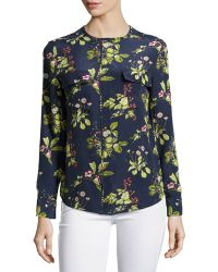 Equipment Lynn Floral-Print Blouse - Lyst