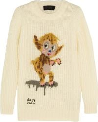 Coach Buster Le Fauve Intarsia Knitted Sweater - Lyst