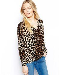Oasis Oversized Animal Cowl Jumper - Lyst