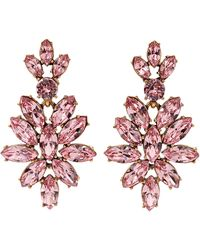 Oscar de la Renta Navette Earrings - Lyst