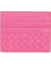 Bottega Veneta Intrecciato Leather Card Holder - Lyst