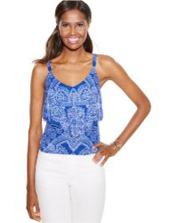 Inc International Concepts Printed Tiered Tank Top - Lyst