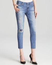 AG Adriano Goldschmied Jeans - Digital Luxe Legging Ankle In Newton - Lyst